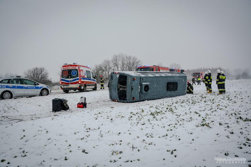 Wypadek busa w Jeziórku