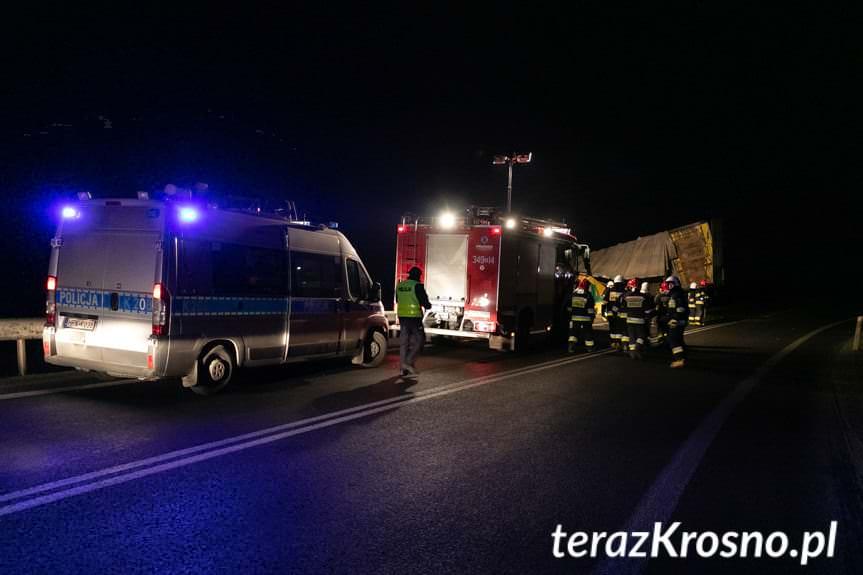 Nowa Wieś. Zderzenie dwóch samochodów ciężarowych