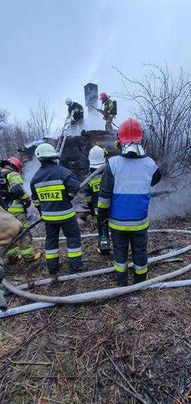 Poważny pożar opuszczonego budynku