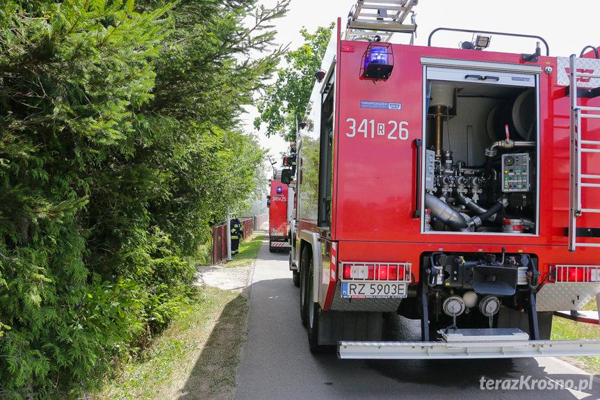 Pożar budynku w Klimkówce