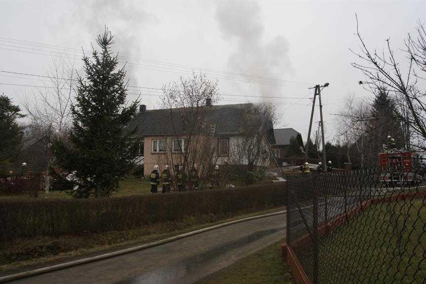 Pożar domu w Bóbrce