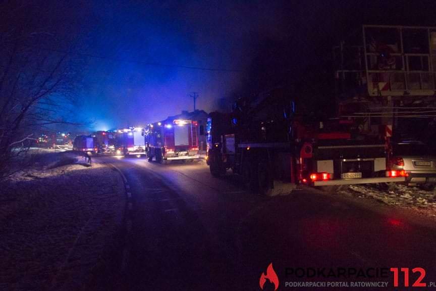 Pożar domu w Posadzie Górnej