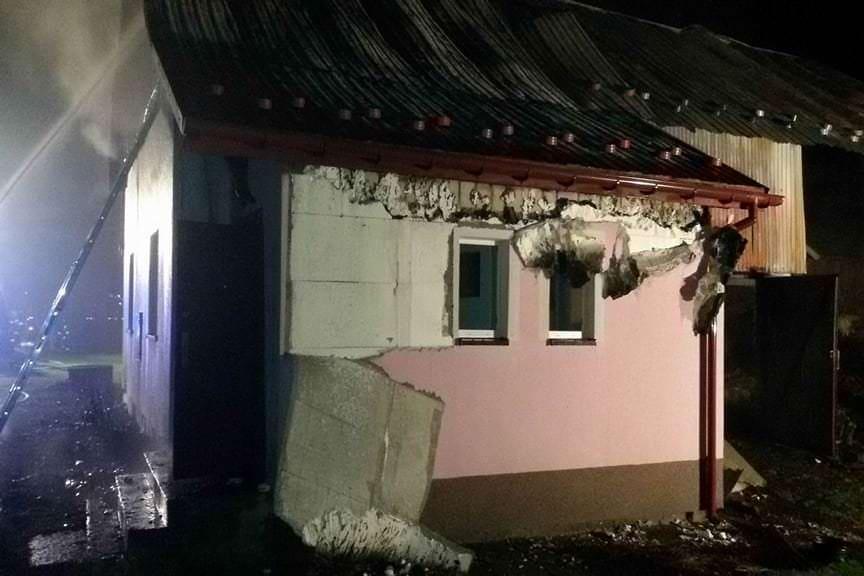 Pożar domu w Słonnem