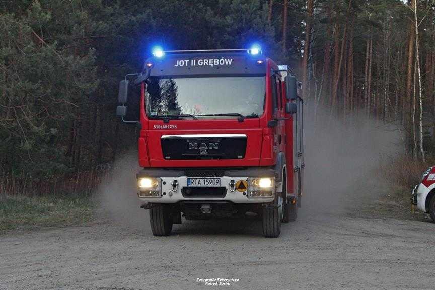 Pożar lasu w okolicy stalowej woli
