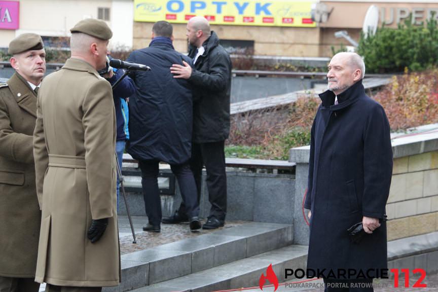 Przysięga żołnierzy WOT na rynku w Rzeszowie