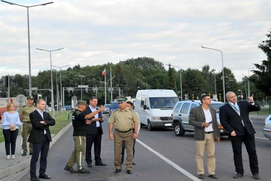 Wizyta węgierskiej delegacji w Bieszczadzkim Oddziale SG
