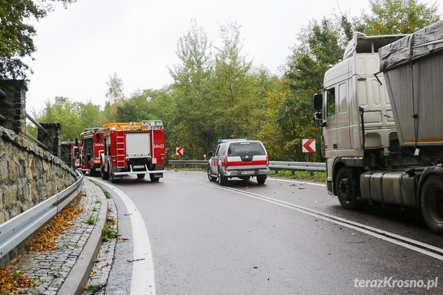 Wypadek drogowy w Komborni