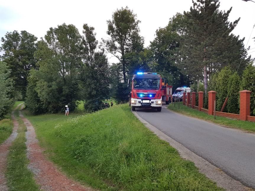 Wypadek motocyklisty we Wrocance