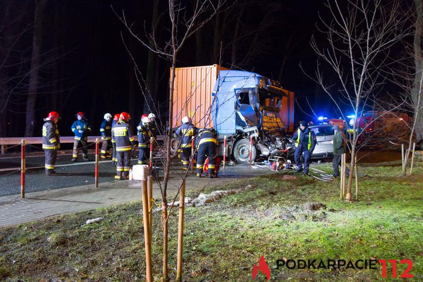 Wypadek w Dukli na DK19