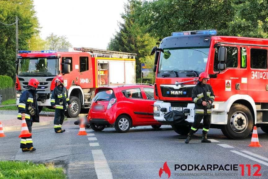 Wypadek w Krośnie ulica Rzeszowska