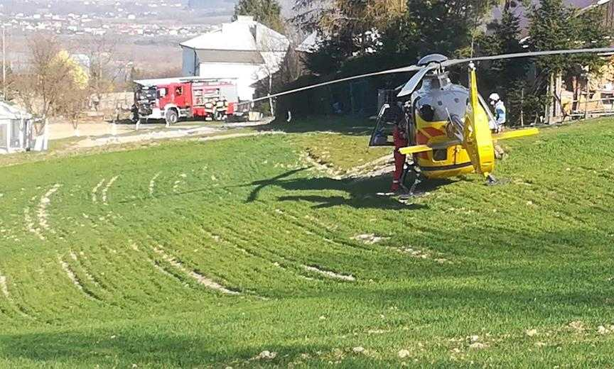 Wypadek w lesie -interweniował helikopter Pogotowia  Ratunkowego