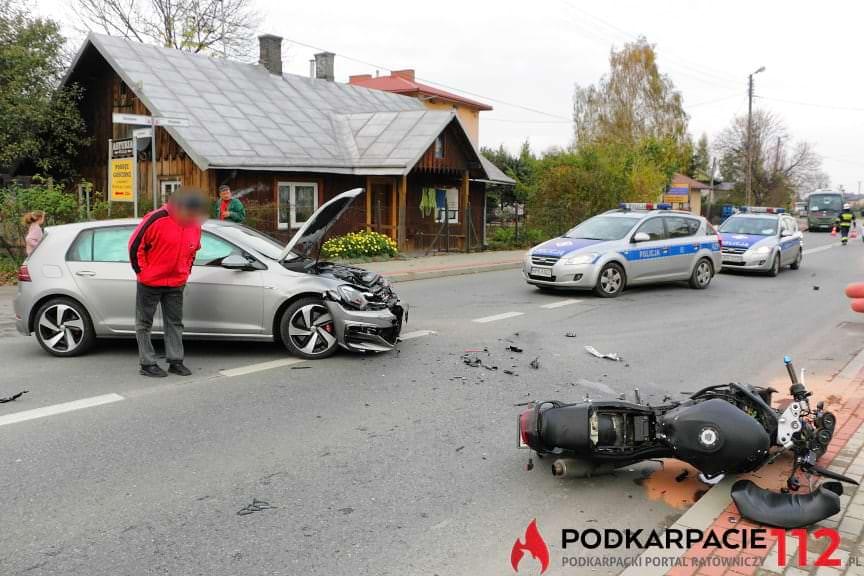 Wypadek w Rymanowie Zdroju