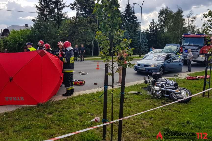 Wypadek w Tarnobrzegu ul Warszawska