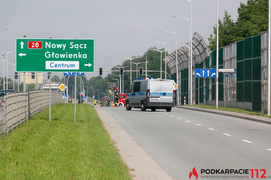 Zablokowana DK28 w Krośnie