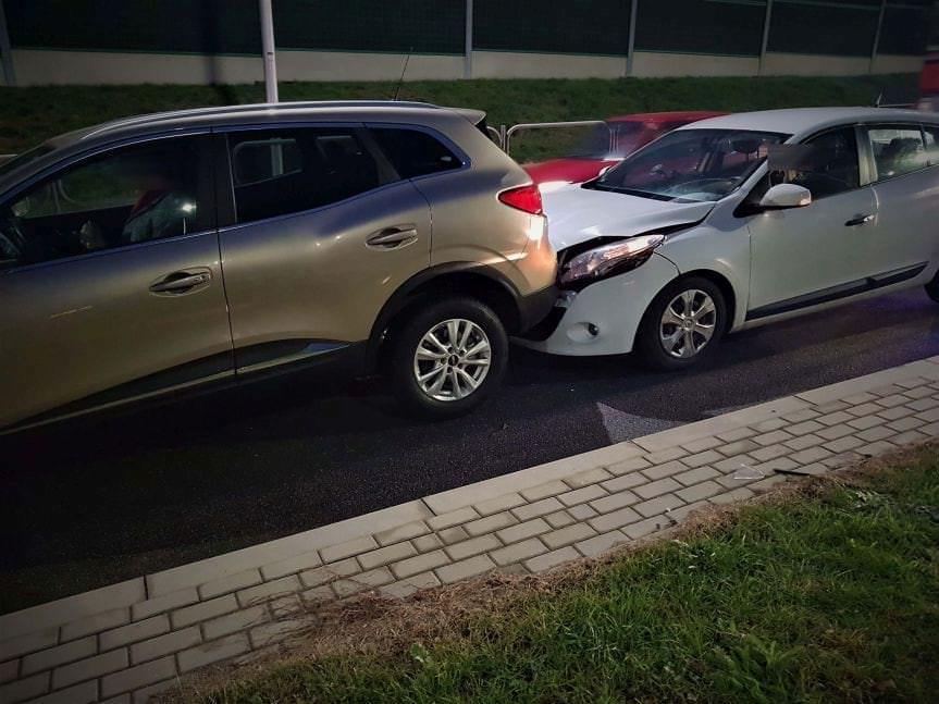 Zdarzenie drogowe na ul.Podkarpackiej w Krośnie