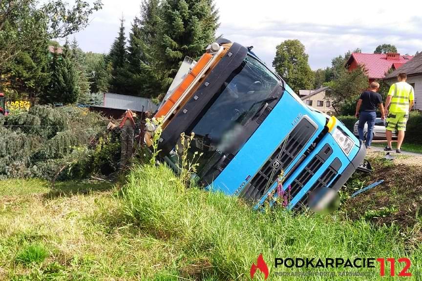 Zderzenie ciężarówek w Jabłonce