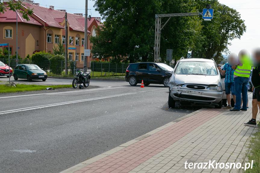 Zderzenie Forda i Audi w Łężanach