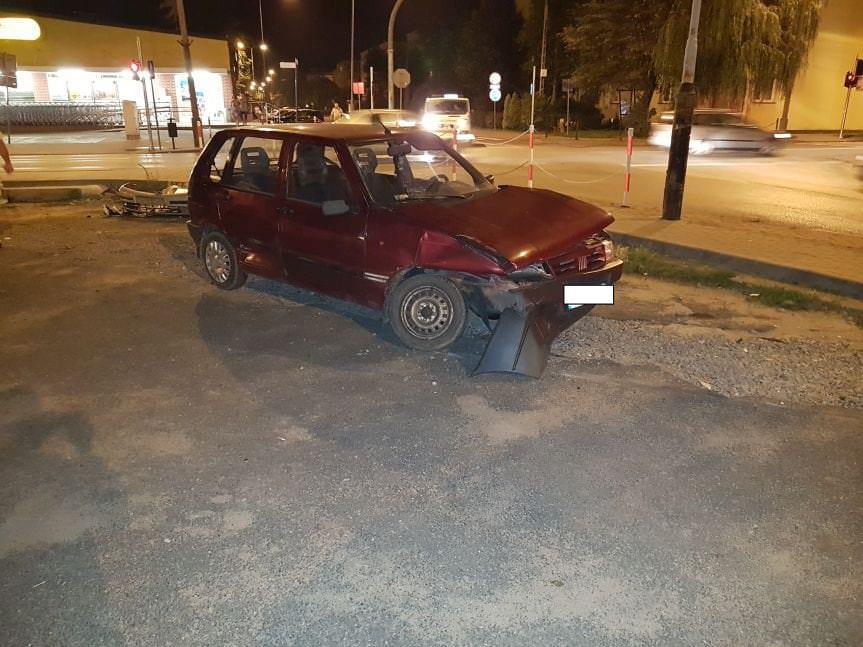 Zderzenie Renault i Fiata w Krośnie