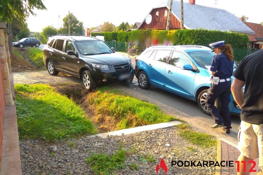 Zderzenie samochodów w Krościenku Wyżnym