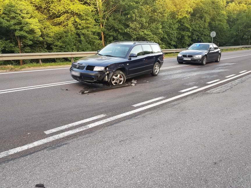 Zderzenie Volkswagena i BMW w Komborni